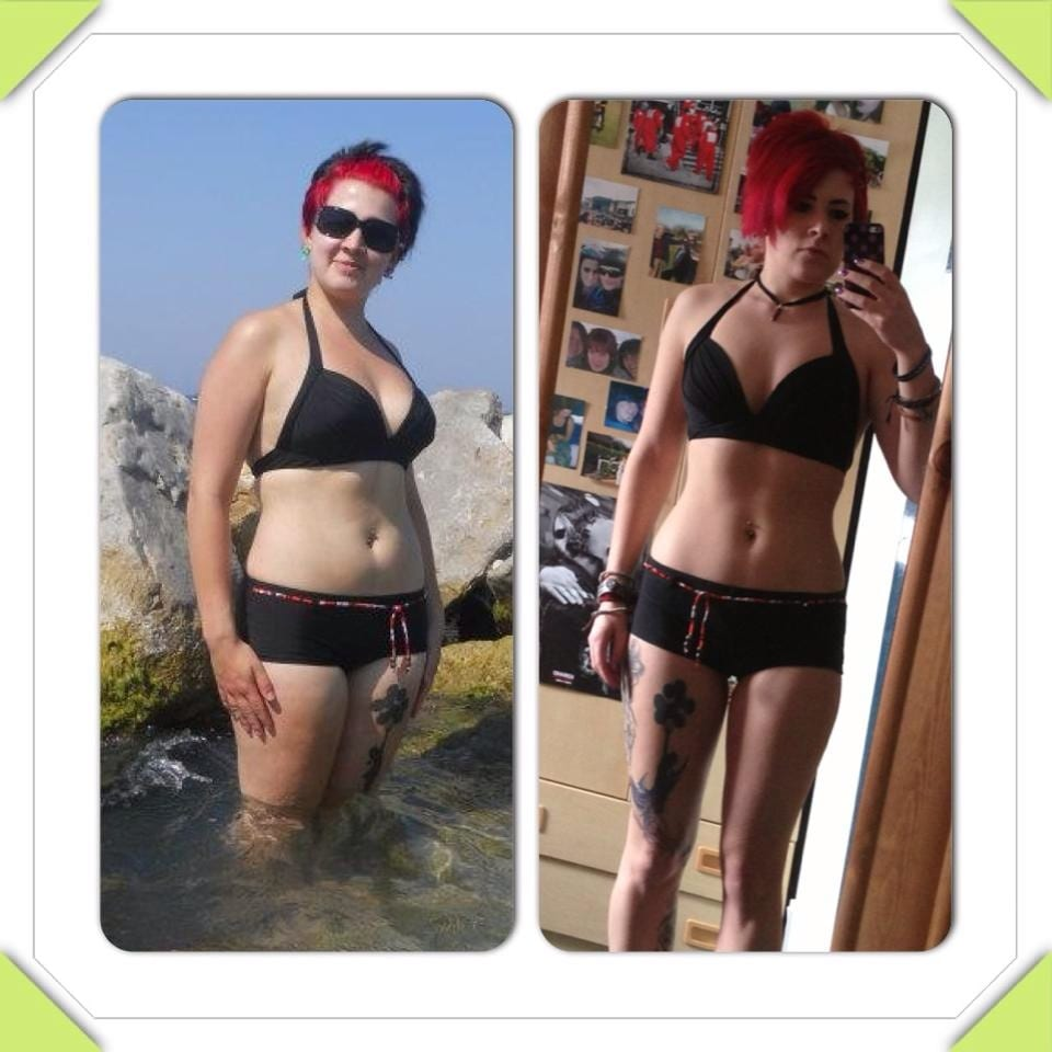 female weight loss progess pic Primal Life Gym Lincoln