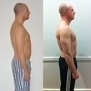 Dale progress photo weight loss Primal Life Gym Lincoln