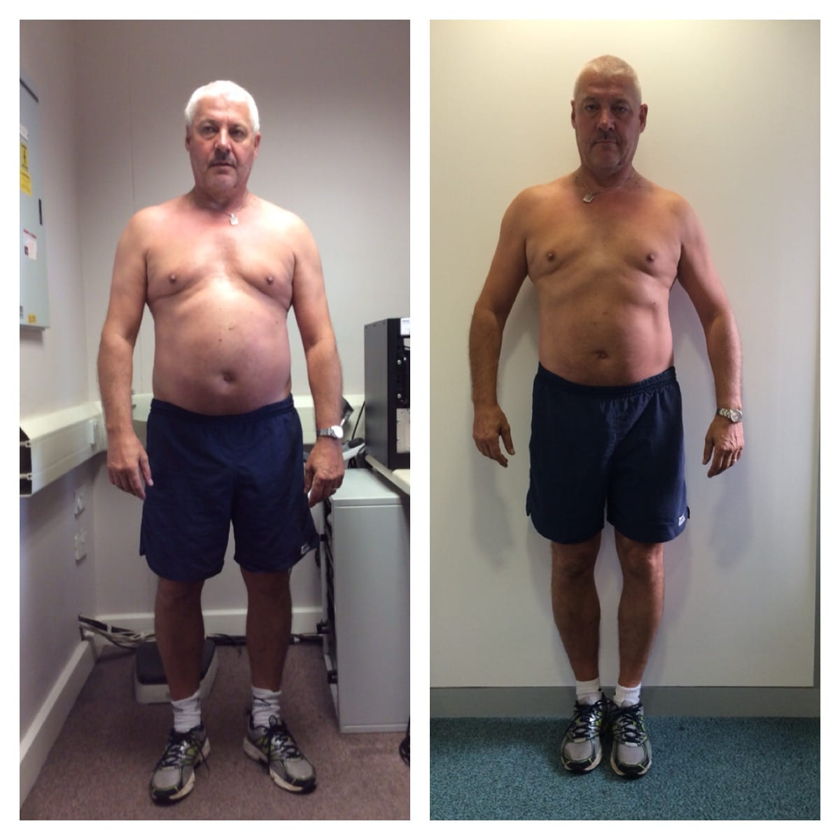 Jerry weight loss progress Primal Life Gym Lincoln